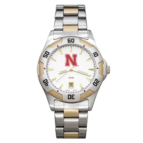 University of Nebraska Men's All-Pro Two Tone Watch