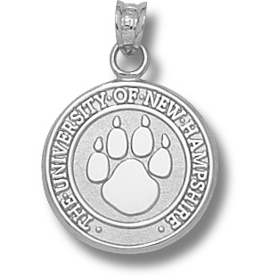 Sterling Silver 5/8in Univ of New Hampshire Paw Seal Charm