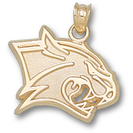 14kt Yellow Gold 5/8in University of New Hampshire Wilcat Pendant