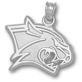 Sterling Silver 5/8in New Hampshire Wildcat Pendant