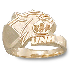U of New Hampshire Ring 10kt Yellow Gold