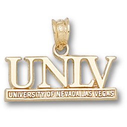 UNLV 3/8in Pendant 14kt Yellow Gold