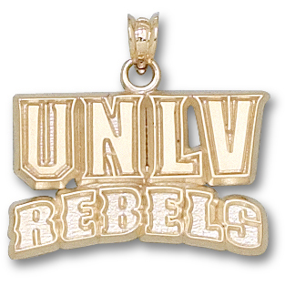 UNLV 5/8in Rebels Pendant 14kt Yellow Gold