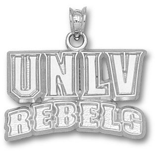 UNLV 5/8in Rebels Pendant Sterling Silver