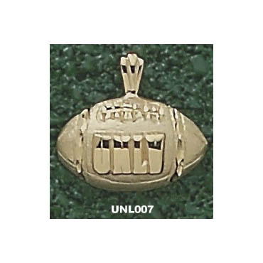 UNLV 7/16in Football Pendant 14kt Yellow Gold