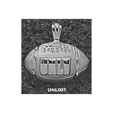 UNLV 7/16in Football Pendant Sterling Silver