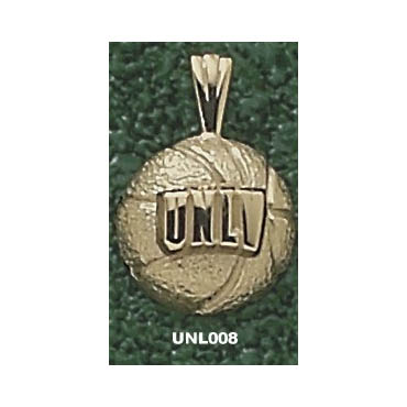 UNLV 7/16in Basketball Pendant 10kt Yellow Gold