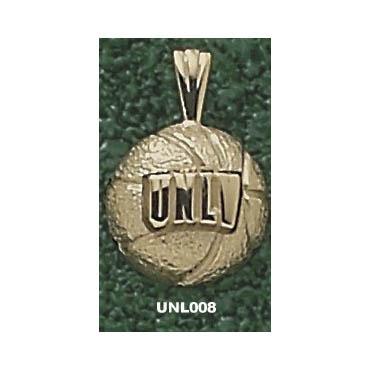 UNLV 7/16in Basketball Pendant 14kt Yellow Gold