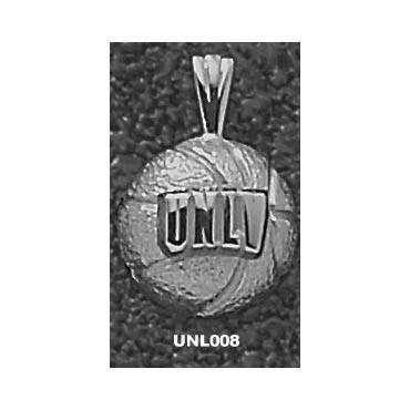 UNLV 7/16in Basketball Pendant Sterling Silver