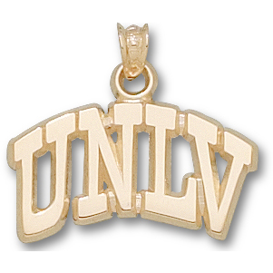 10kt Yellow Gold 5/8in Arched UNLV Pendant