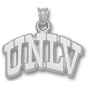 Sterling Silver 5/8in Arched UNLV Pendant