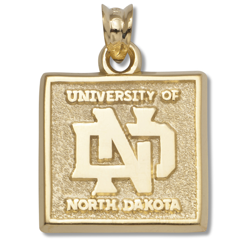 North Dakota 5/8in Pendant 14kt Yellow Gold