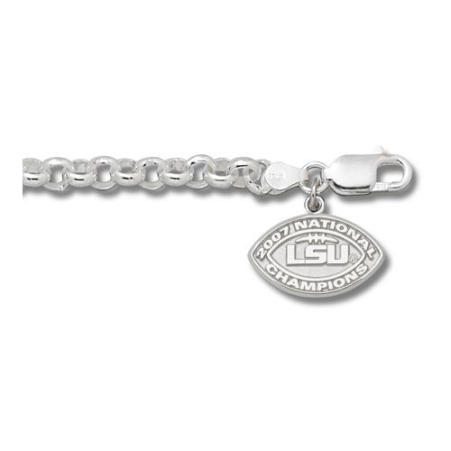 Sterling Silver LSU 2007 National Champions Bracelet