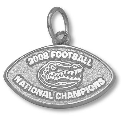 Sterling Silver 2008 Champions University of Florida Pendant