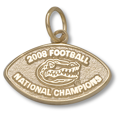 14kt 2008 National Champs University of Florida Pendant