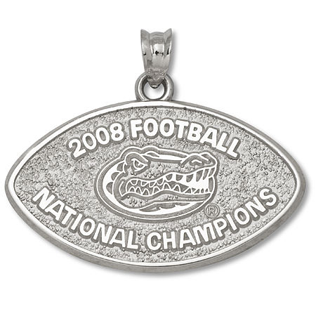 Sterling Silver 2008 BCS Champs 5/8in Pendant