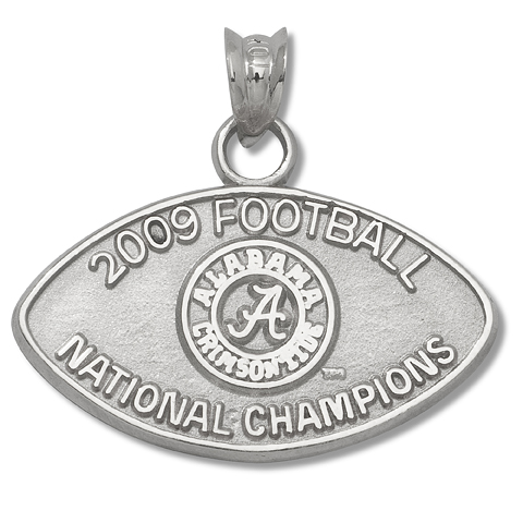 1/2in Alabama National Champs Sterling Silver