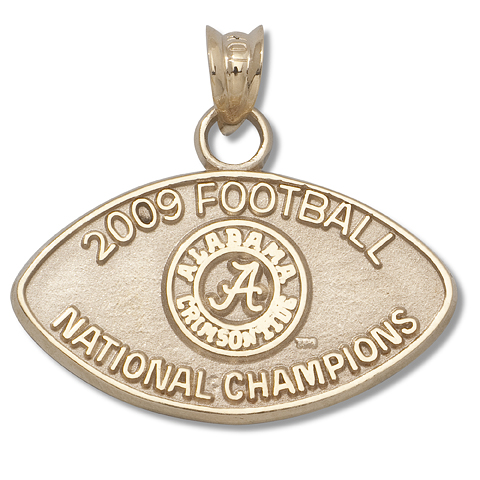 Alabama National Champs 14kt Yellow Gold