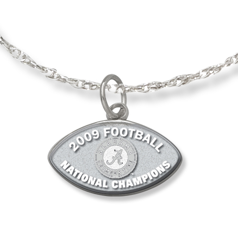 Alabama National Champs with 18in Chain - Sterling Silver
