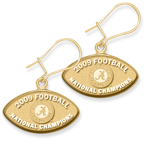 Alabama Champs Earrings 10kt Yellow Gold