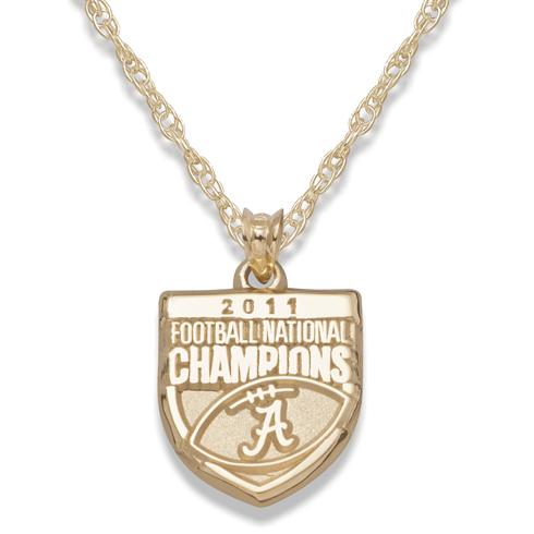 2011 University of Alabama National Champs 10kt Gold Necklace