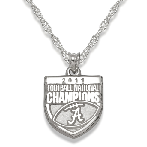 2011 University of Alabama National Champs Silver Necklace