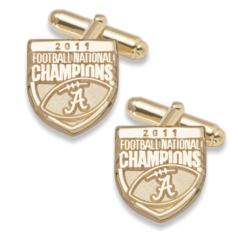 2011 University of Alabama National Champs 10kt Gold Cufflinks