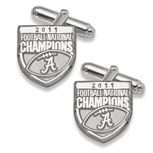 2011 University of Alabama National Champs Silver Cufflinks