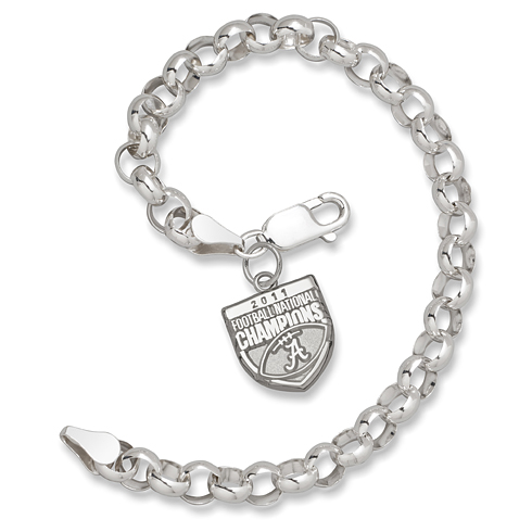 2011 University of Alabama National Champs Silver Bracelet