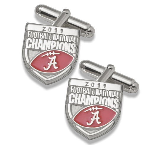 2011 University of Alabama National Champs Silver Cufflinks