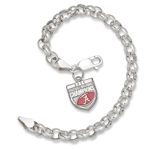 2011 University of Alabama National Champs Silver Bracelet