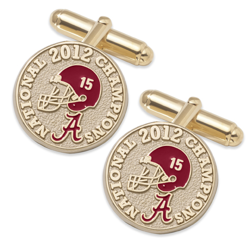 University of Alabama 2012 National Champs Cufflinks