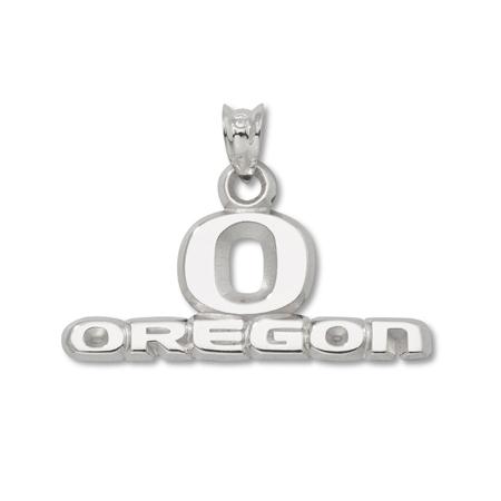 Oregon Ducks 7/16in Sterling Silver Pendant