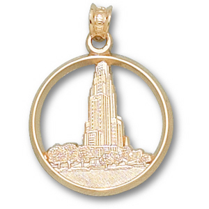 Pittsburgh Panthers 3/4in 14k Cathedral Pendant