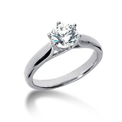 3/4 ct Six-Prong Trellis Moissanite Solitaire Ring