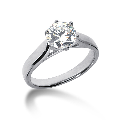 1 1/4 ct Six-Prong Trellis Moissanite Solitaire Ring