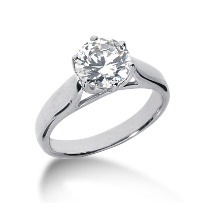 1 1/2 ct Six-Prong Trellis Moissanite Solitaire Ring