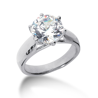 3 ct Six-Prong Trellis Moissanite Solitaire Ring