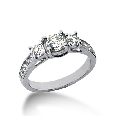 1.45 ct tw Trellis Moissanite Ring with Side Accents