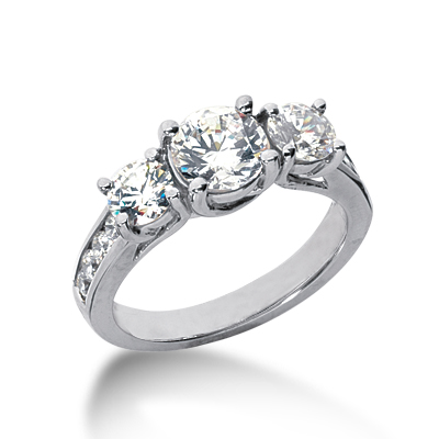 2 ct tw Trellis Moissanite Ring with Side Accents