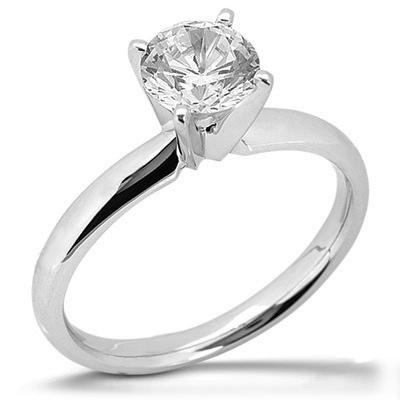 1 ct Moissanite Four-Prong Ring