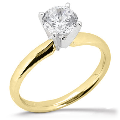 1 1/2 ct Moissanite Four-Prong Ring