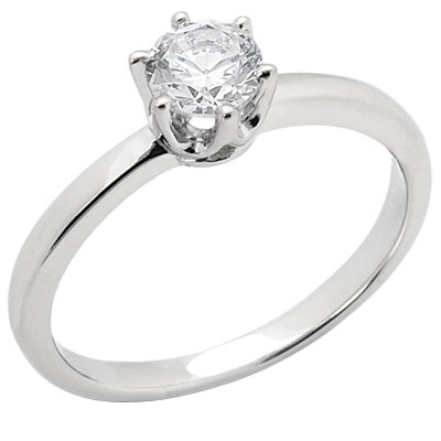 3/4 ct Crown Style Moissanite Engagement Ring