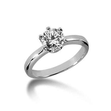 1 ct Crown Style Moissanite Engagement Ring
