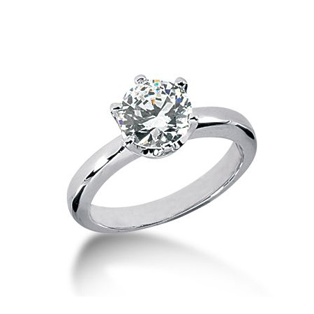 1 1/2 ct Crown Style Moissanite Engagement Ring