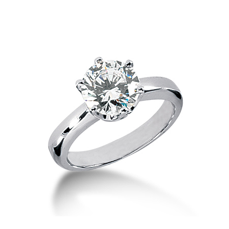 2 ct Crown Style Moissanite Engagement Ring