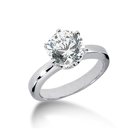 2 1/2 ct Crown Style Moissanite Engagement Ring