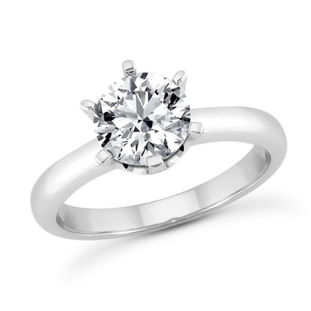 3 ct Crown Style Moissanite Engagement Ring