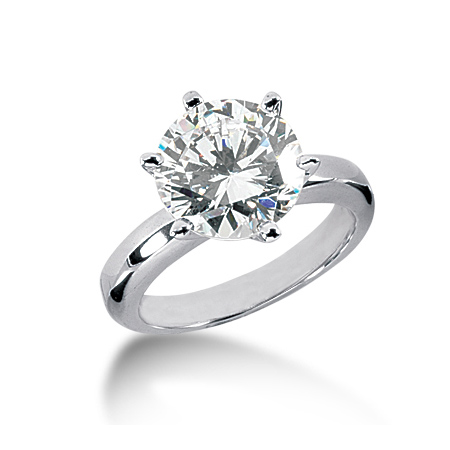 3 1/2 ct Crown Style Moissanite Engagement Ring