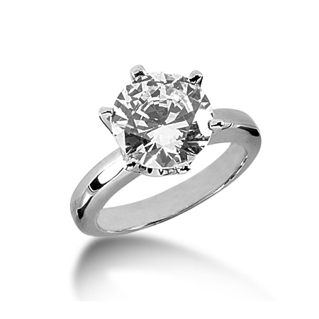 4 ct Crown Style Moissanite Engagement Ring